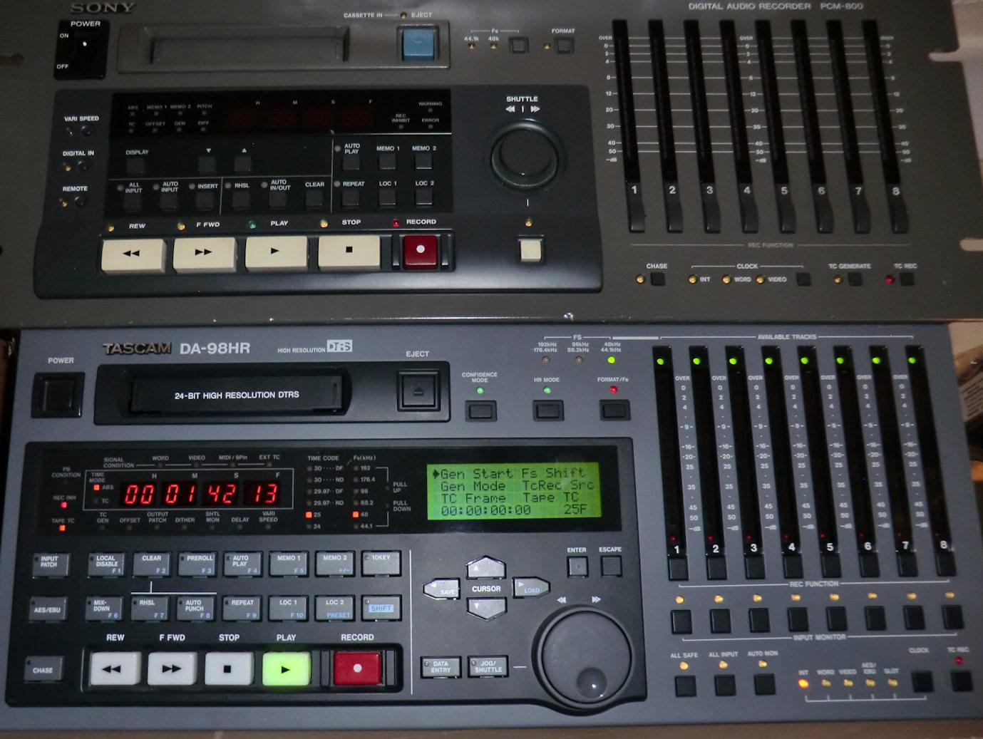 8 track digital recordings on Hi8.
